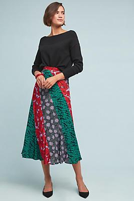 Slide View: 1: Foster Patchwork Skirt