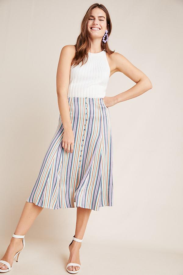 Freya Midi Skirt - Purple, Size Uk 6