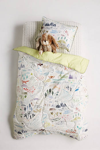 Wilderness Map Toddler Quilt & Playmat