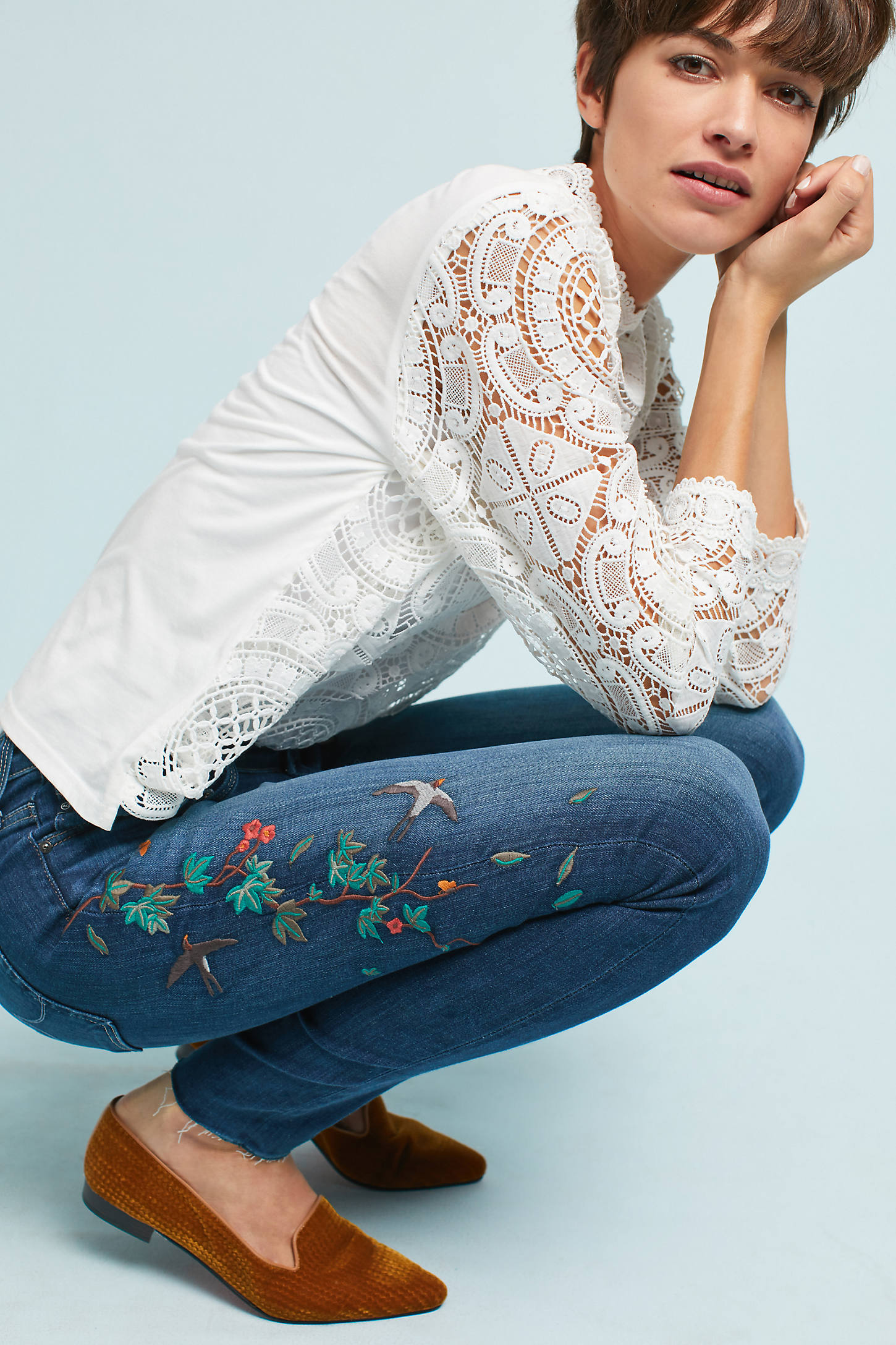AG The Farrah High-Rise Skinny Jeans