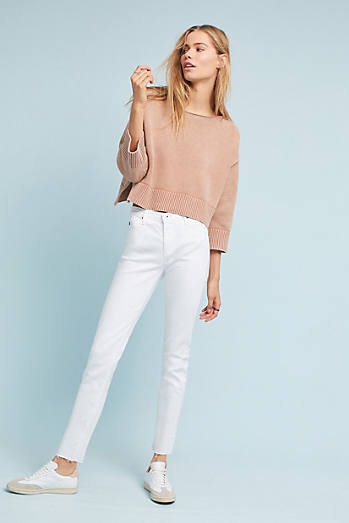 AG The Stevie Mid-Rise Skinny Ankle Jeans