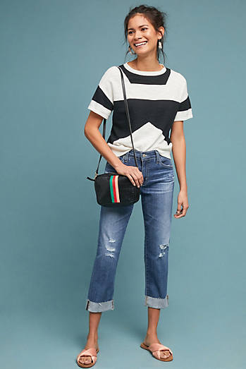 AG The Ex-Boyfriend Mid-Rise Cropped Jeans