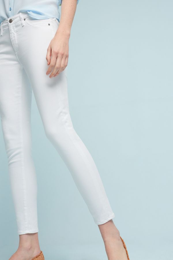 AG AG Abbey Sateen Mid-Rise Skinny Ankle Jeans