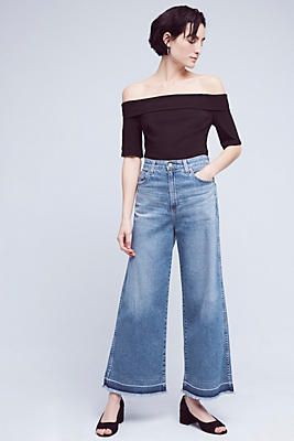 Slide View: 1: AG Yvette High-Rise Crop Jeans
