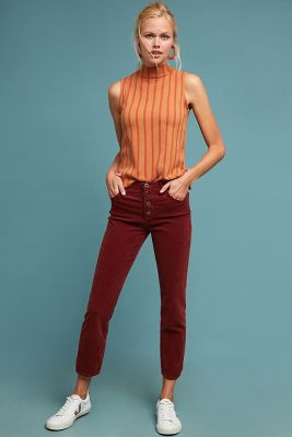 Ag The Isabelle High Rise Cropped Straight Jeans by Ag Jeans