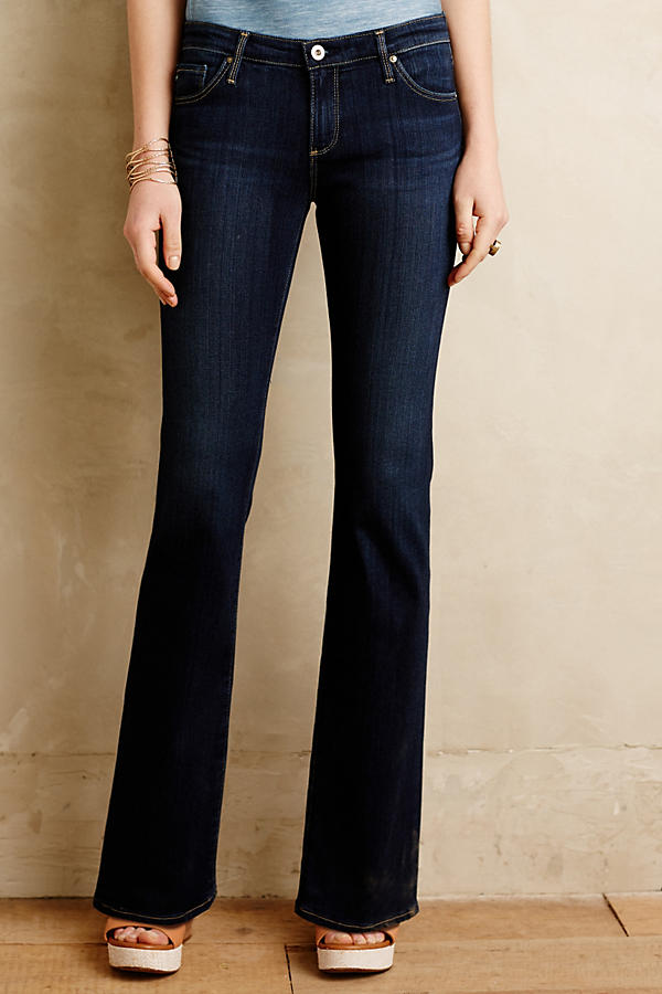 AG Angelina Petite Flare Jeans | Anthropologie