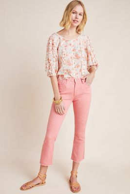 08ed452b AG The Jodie High-Rise Cropped Flare Jeans $225