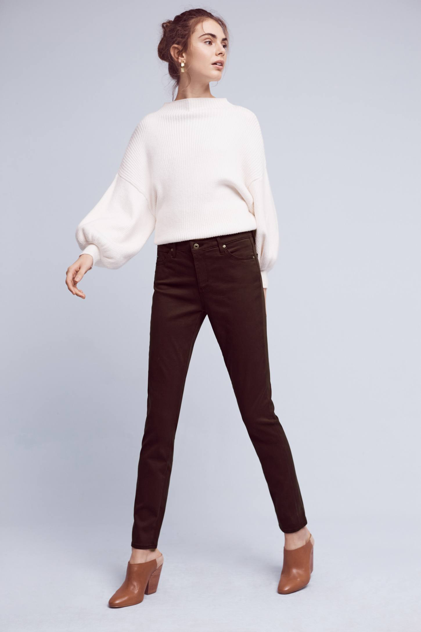 AG Prima Mid-Rise Sateen Skinny Jeans