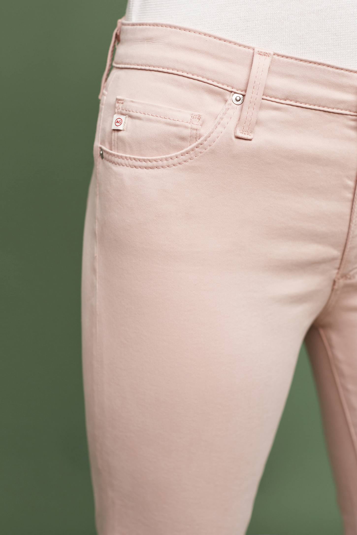 Slide View: 3: AG Prima Mid-Rise Sateen Skinny Ankle Jeans
