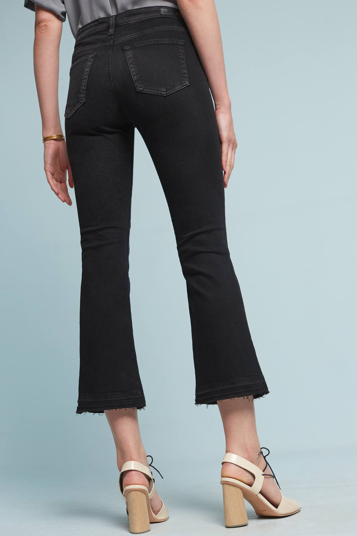 AG The Jodi High-Rise Cropped Flare Jeans | Anthropologie