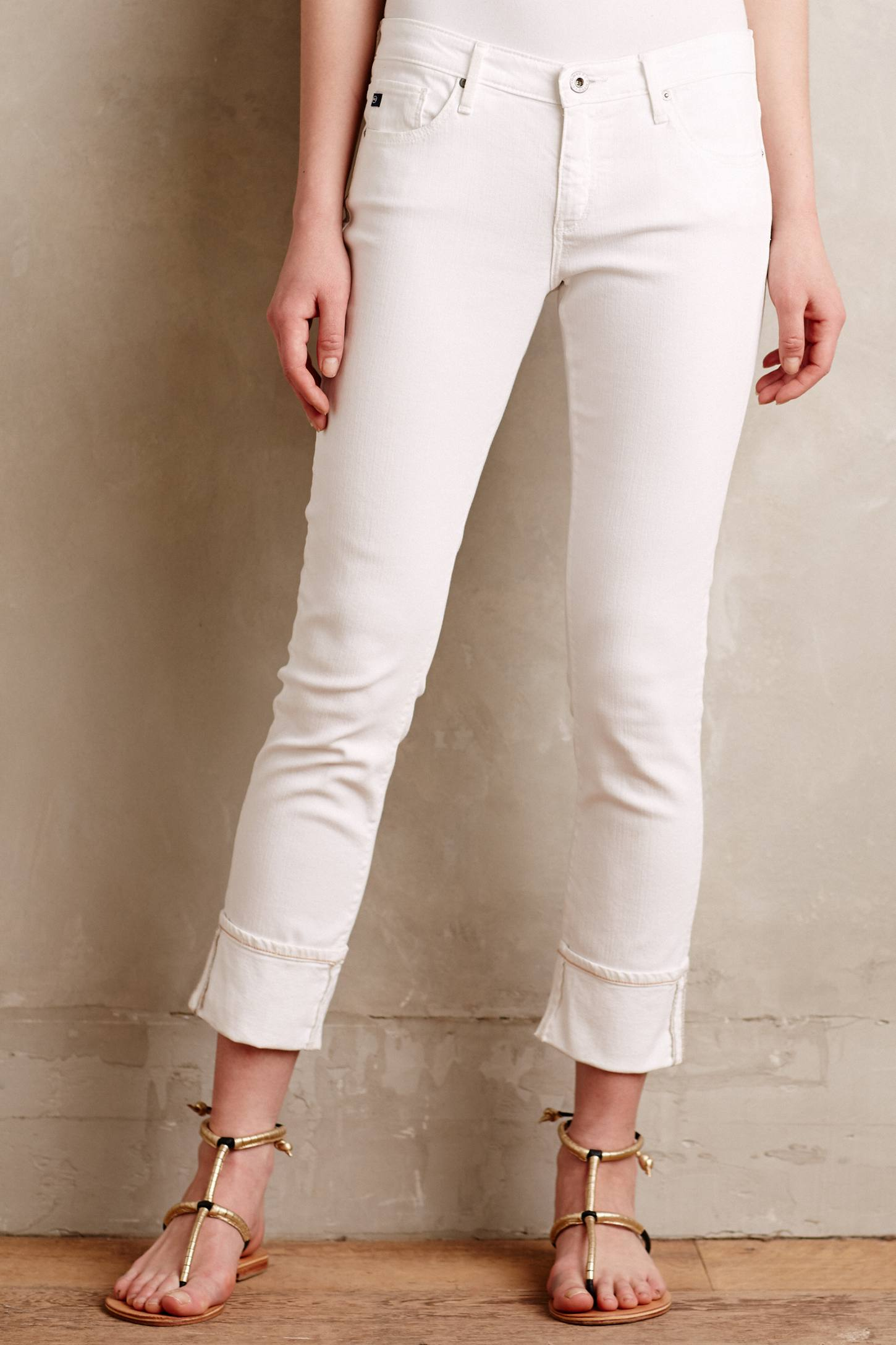 AG Stevie Ankle Cuffed Jeans | Anthropologie
