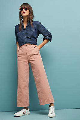 Slide View: 3: Frye Nadia High-Rise Wide-Leg Jeans