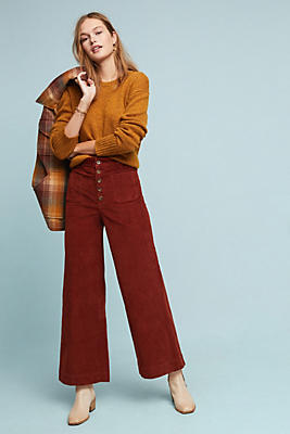 Slide View: 1: Frye Ilana Ultra High-Rise Corduroy Wide-Leg Jeans