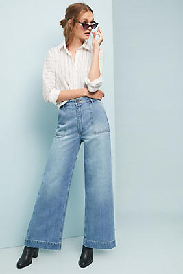 Slide View: 1: Frye Nadia High-Rise Wide-Leg Jeans