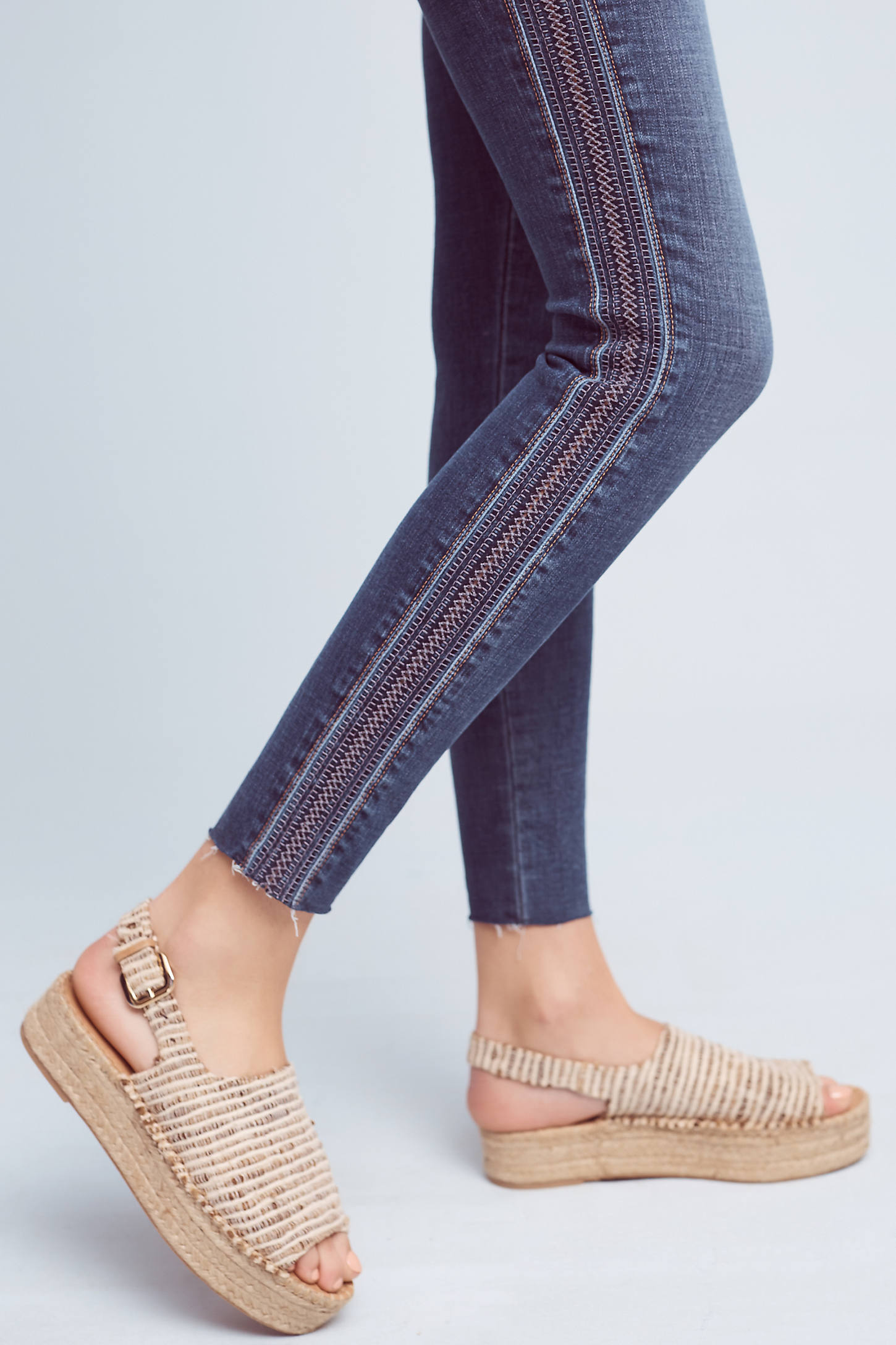 Joe's Icon Mid-Rise Embroidered Skinny Jeans