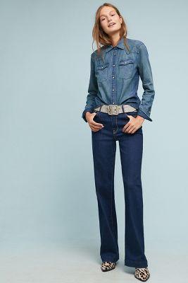 7a0680a9929e Frye Nadia High-Rise Wide-Leg Jeans
