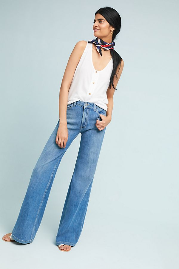 Slide View: 3: Paige Sutton High-Rise Wide-Leg Jeans