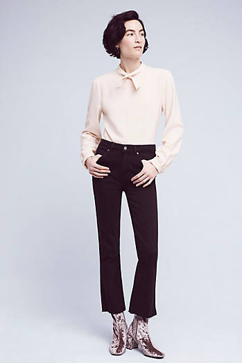 Paige Colette High-Rise Cropped Flare Jeans