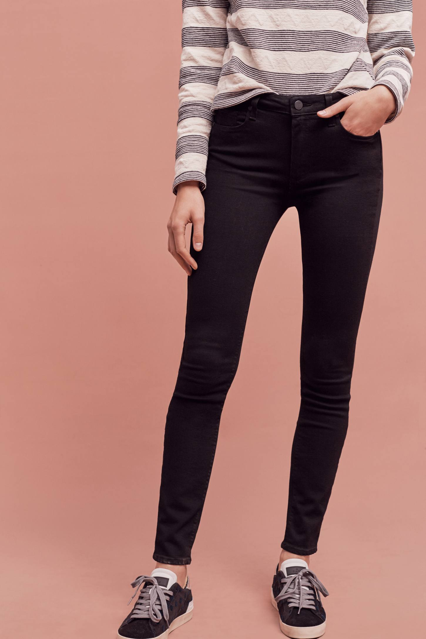 Slide View: 2: Paige Hoxton High-Rise Skinny Jeans