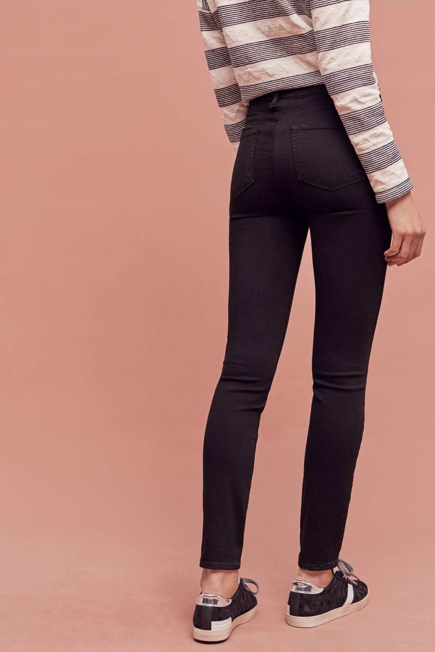 Slide View: 4: Paige Hoxton High-Rise Skinny Jeans