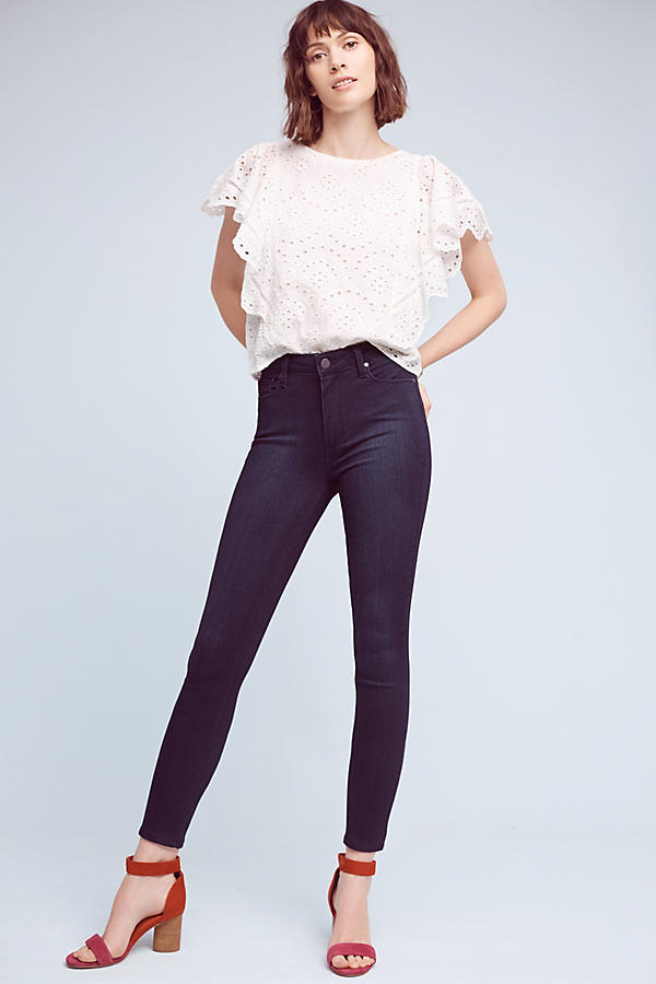 Slide View: 2: Paige Hoxton High-Rise Ultra-Skinny Jeans