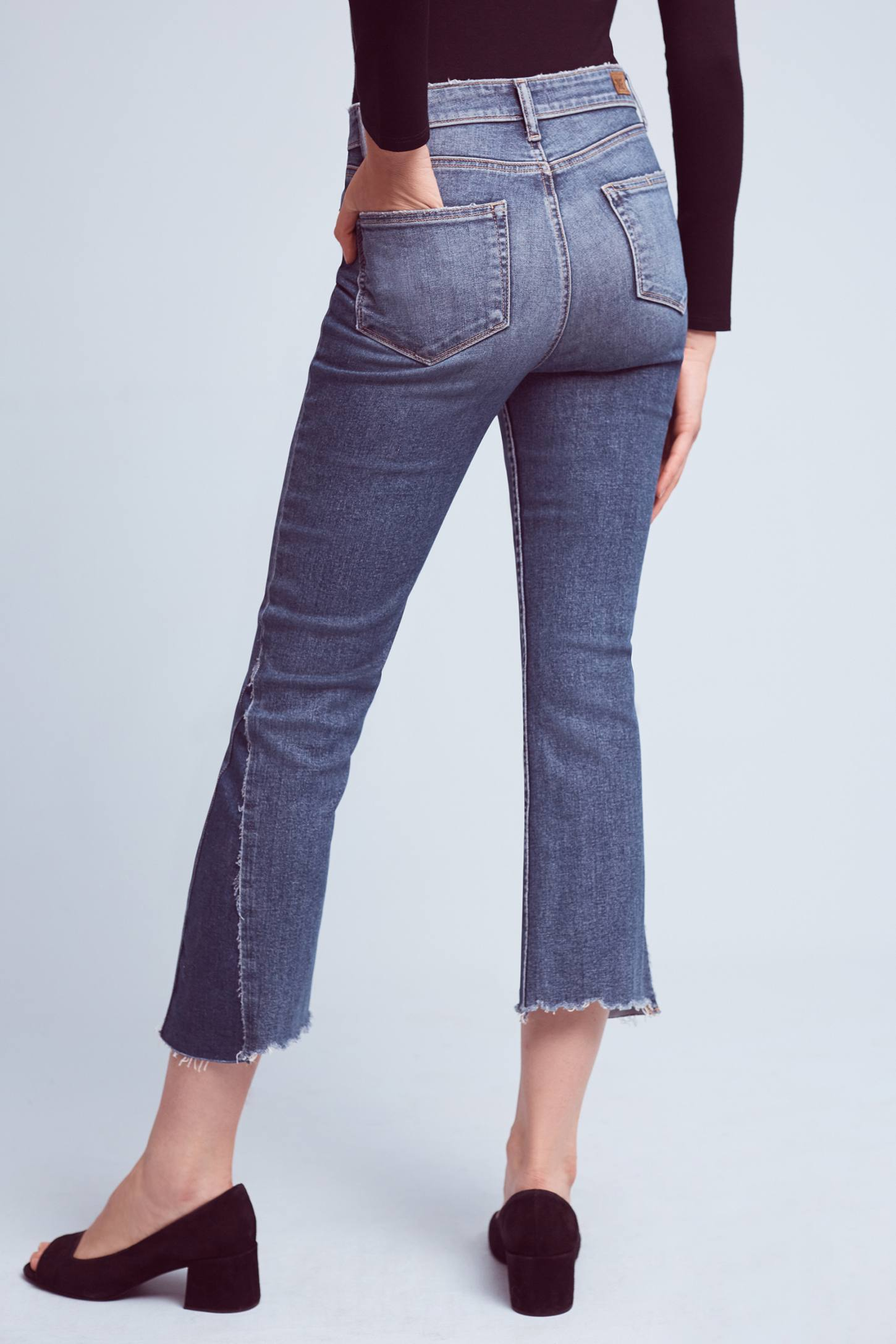 Paige Colette Low-Rise Cropped Flare Jeans | Anthropologie