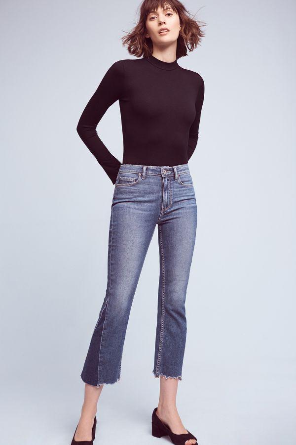 Paige Paige Colette Low-Rise Cropped Flare Jeans