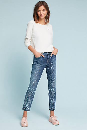 Level 99 Amber Mid-Rise Cropped Skinny Jeans