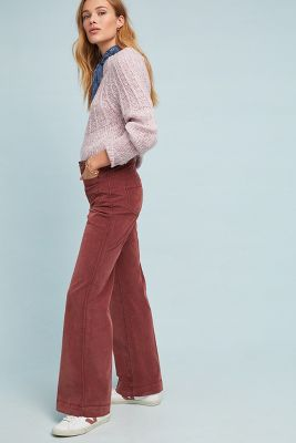 Fargo High Rise Flared Corduroy Trousers by Marrakech