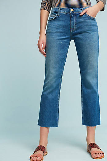 Current/Elliott Mid-Rise Straight Cropped Jeans