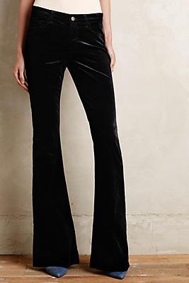 J Brand Martini Velvet Flare Jeans | Anthropologie