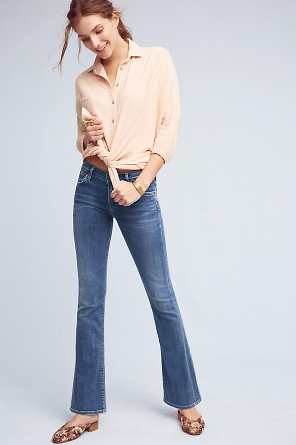 Slide View: 1: Citizens of Humanity Emmanuelle Mid-Rise Bootcut Petite Jeans