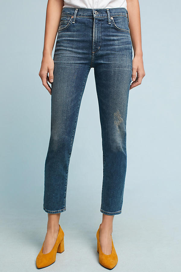 Slide View: 2: Citizens of Humanity Cara High-Rise Cigarette Ankle Jeans