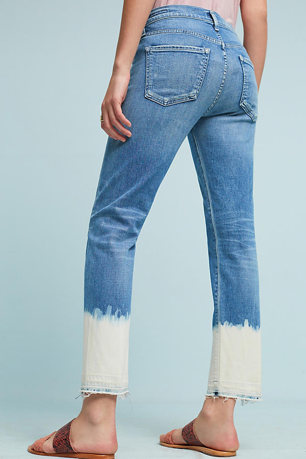 Slide View: 4: Citizens Of Humanity Agnes High-Rise Bleached Cropped Jeans