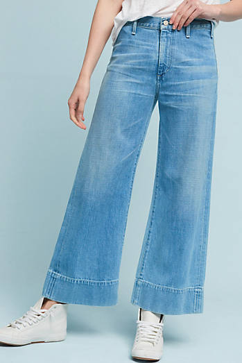 Citizens of Humanity Abigail High-Rise Wide-Leg Cropped Jeans