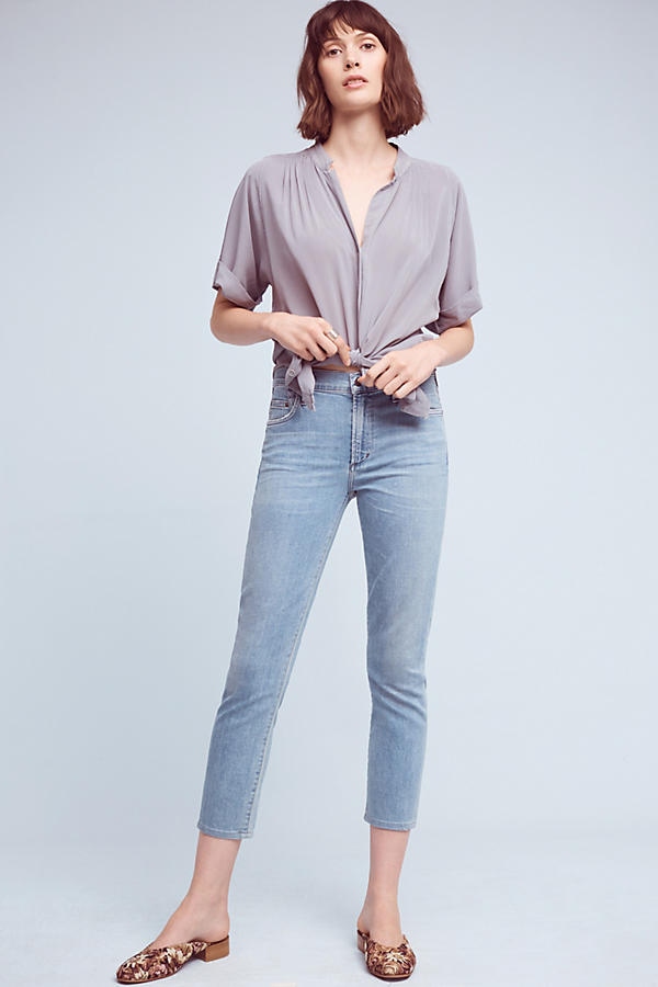 Slide View: 1: Citizens of Humanity Rocket High-Rise Skinny Cropped Jeans
