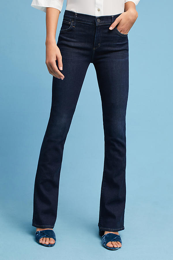 Slide View: 2: Citizens of Humanity Emmanuelle Mid-Rise Slim Bootcut Jeans
