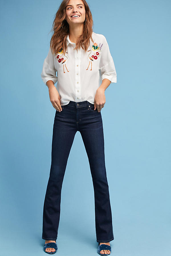 Slide View: 1: Citizens of Humanity Emmanuelle Mid-Rise Slim Bootcut Jeans