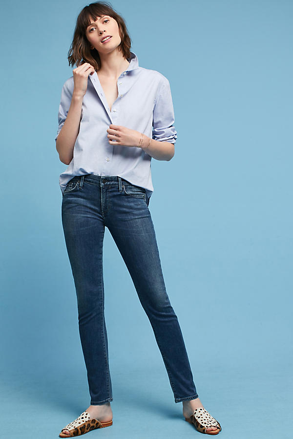 Slide View: 1: Citizens of Humanity Arielle Mid-Rise Slim Petite Jeans