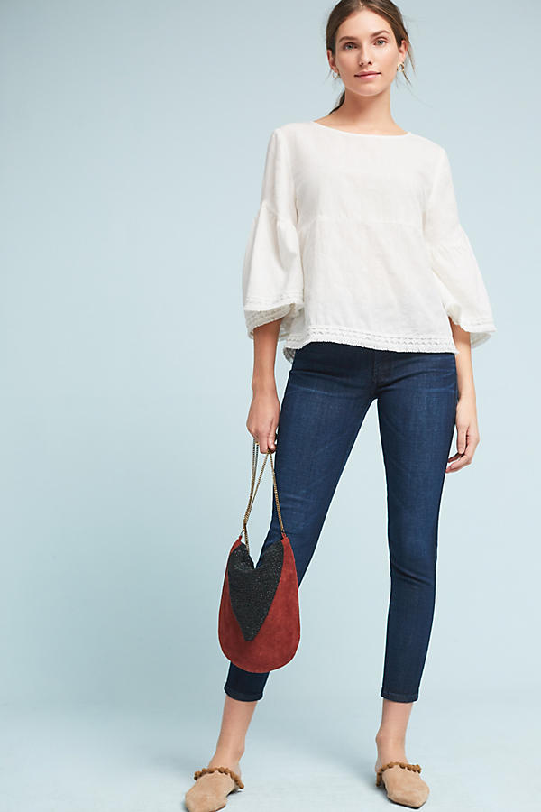 Slide View: 4: James Jeans Twiggy Mid-Rise Skinny Ankle Petite Jeans