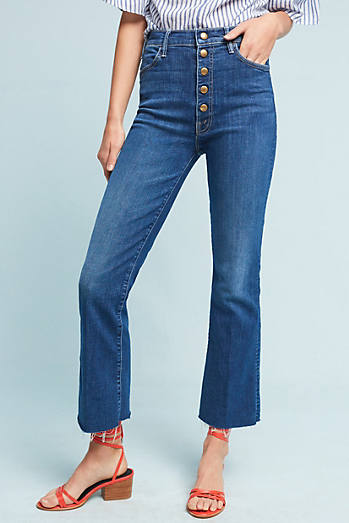 Mother The Hustler Snap Down Ultra High-Rise Jeans