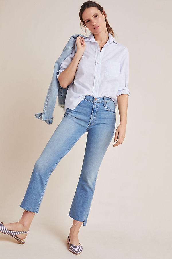 Mother MOTHER THE INSIDER HIGH-RISE CROP STEP FRAY JEANS