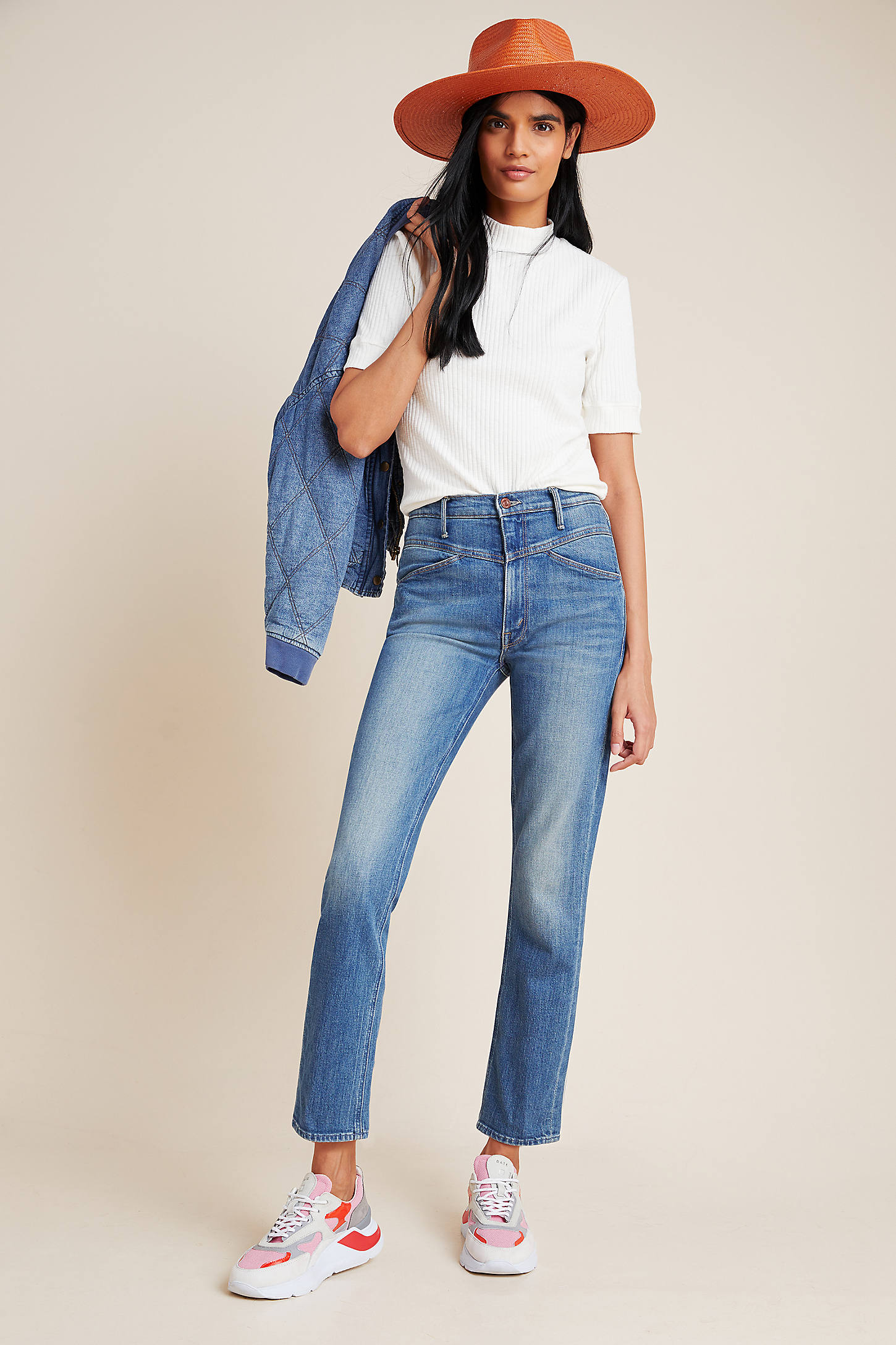 Mother Jeans MOTHER THE DAZZLER HIGH-RISE STRAIGHT JEANS