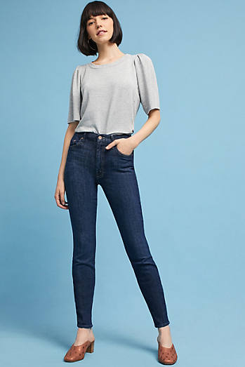 Mother The Looker High-Rise Skinny Petite Jeans