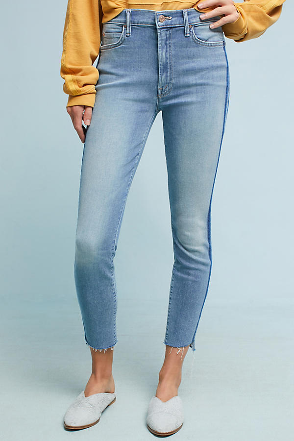 Slide View: 2: Mother The Stunner Step Fray Ultra High-Rise Jeans