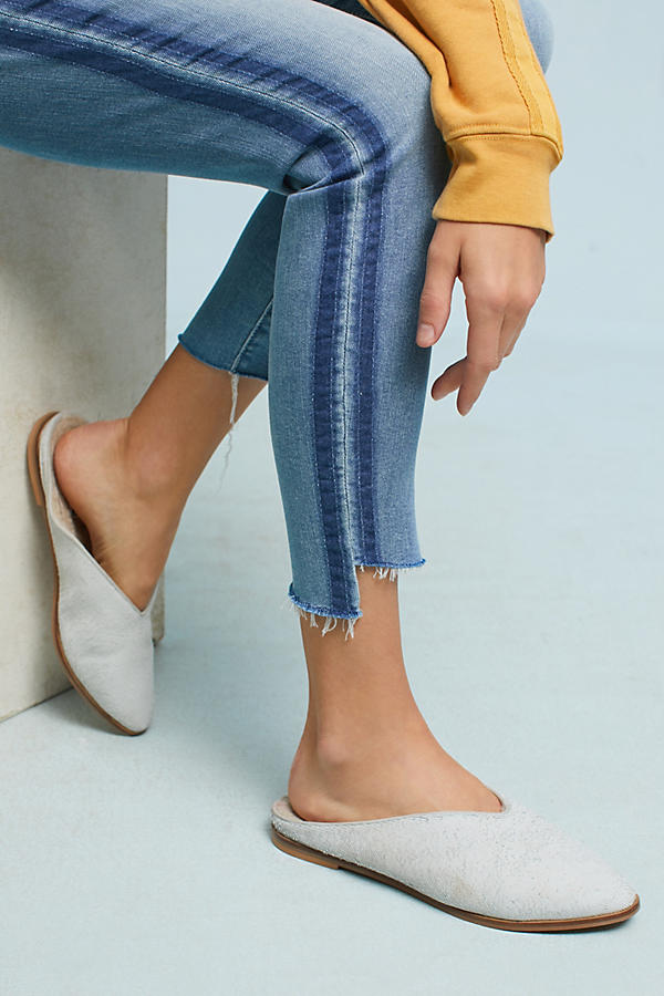 Slide View: 4: Mother The Stunner Step Fray Ultra High-Rise Jeans