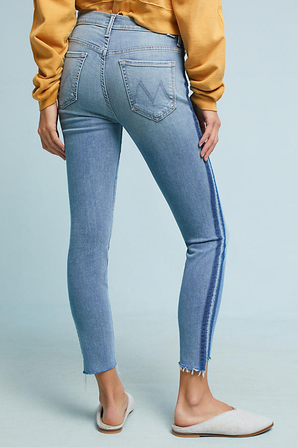 Slide View: 5: Mother The Stunner Step Fray Ultra High-Rise Jeans