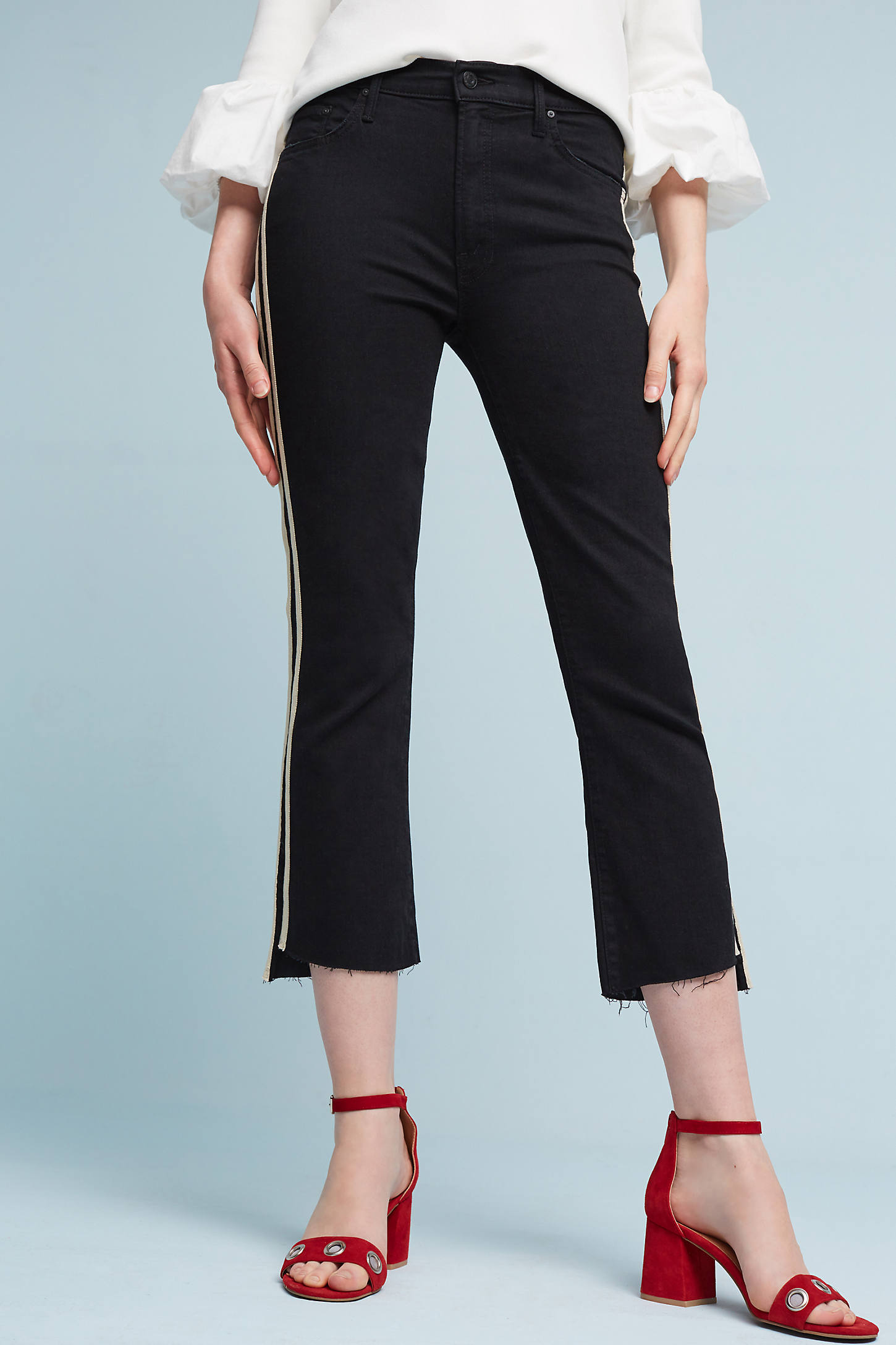 Mother Insider High-Rise Cropped Track Pants