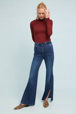 Mother The Hustler Sidewinder Ultra High Rise Wide Leg Jeans by Anthropologie