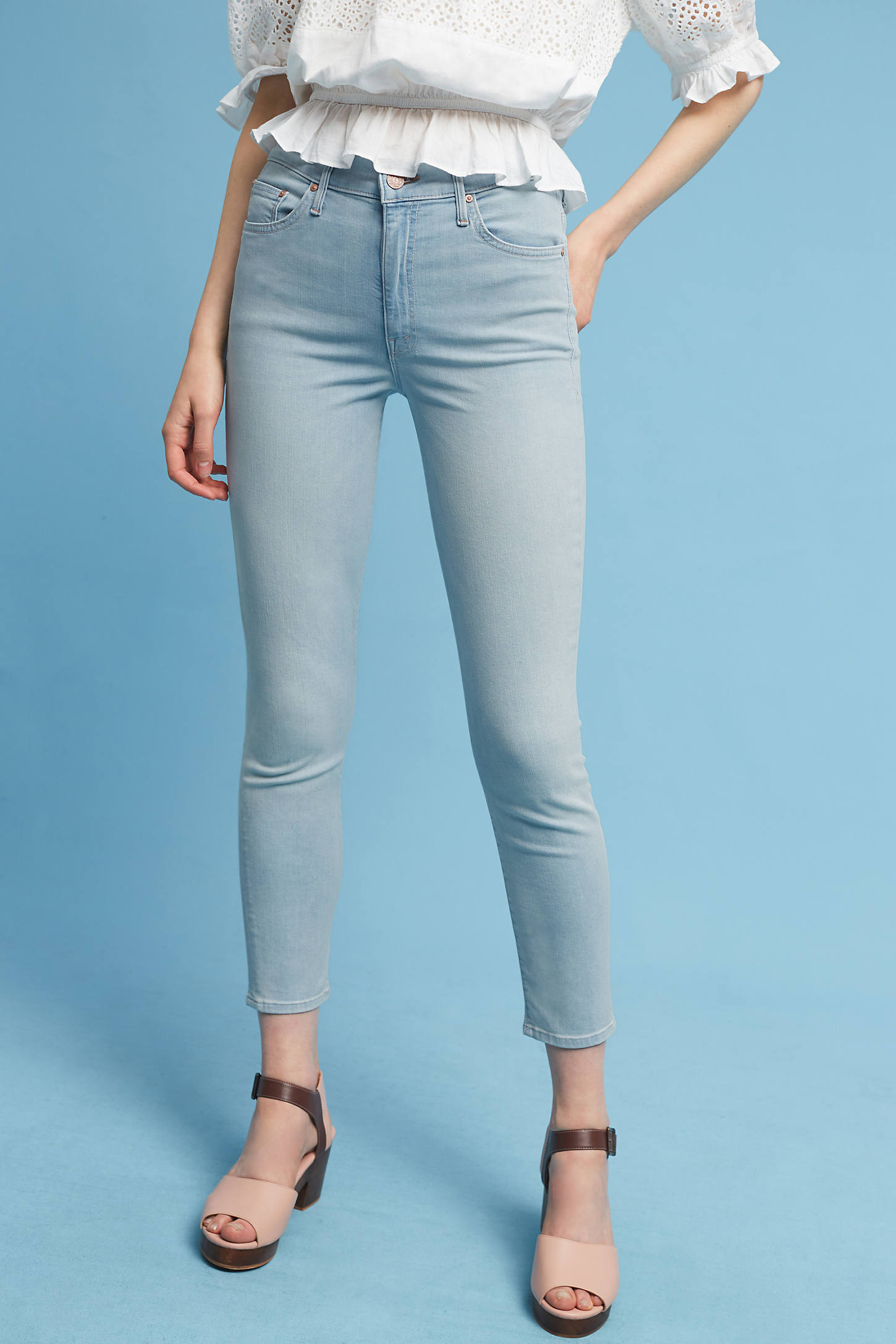 Mother Swooner Ultra High-Rise Ankle Jeans